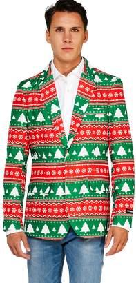 Men's OppoSuits Fairisle Christmas Tree Blazer