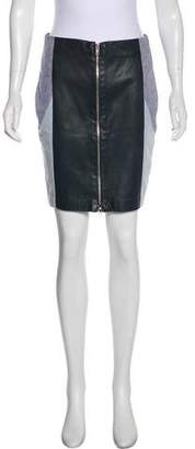 Timo Weiland Leather Mini Skirt