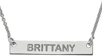 FINE JEWELRY Personalized 4x26mm Block Name Bar Necklace