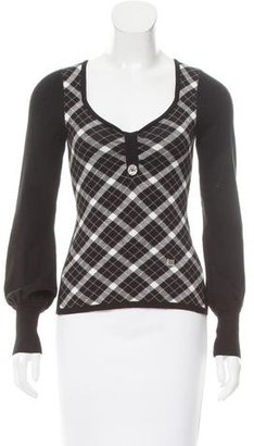 Karen Millen Argyle Knit Top $65 thestylecure.com