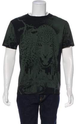Marcelo Burlon County of Milan Leopard City Graphic Print T-Shirt w/ Tags