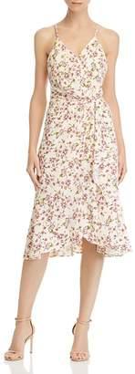 WAYF Floral Faux-Wrap Dress