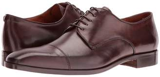 Matteo Massimo 5-Eye Cap Toe Men's Lace Up Wing Tip Shoes