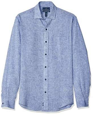 Buttoned Down Men's Classic Fit Casual Linen Cotton Shirt