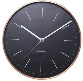 Karlsson Minimal Black Copper Case Wall Clock