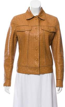 Bottega Veneta Intrecciato Leather Jacket