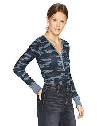 Lucky Brand Women's CAMO Thermal TOP