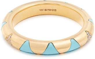 Marc Alary Diamond, turquoise & yellow-gold ring