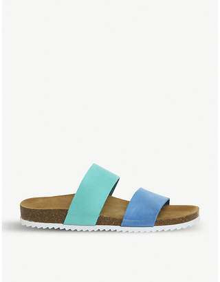 Office Oslo 2 two-tone slider sandals
