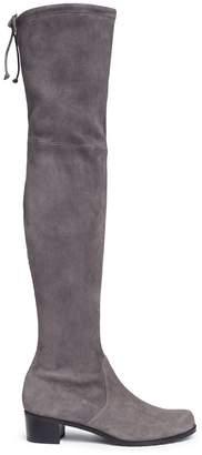 Stuart Weitzman 'Mid Land' stretch suede thigh high boots