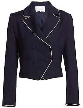 Frame Women's Piped Cropped Blazer