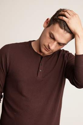 Velvet by Graham & Spencer FAUST MARLED COZY JERSEY HENLEY