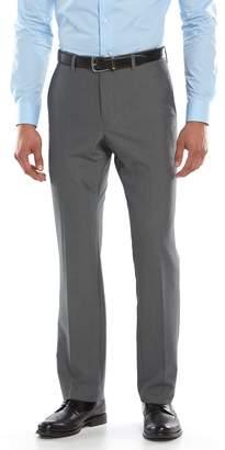 Savile Row Men's Modern-Fit Gray Flat-Front Suit Pants
