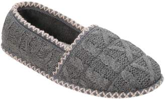 Dearfoams Quilted Cable Knit Closed-Back Slippers