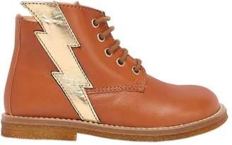 Ocra Lightning Bolt Nappa Leather Ankle Boots