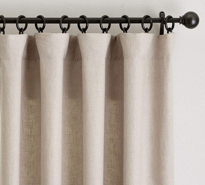Classic Belgian Flax Linen Drape - Dark Flax