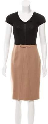 Paule Ka Wool Bicolor Dress