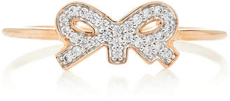 ginette_ny Tiny Diamond 18K Rose Gold Ring