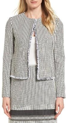 Women's Boss Komina Stripe Boucle Suit Jacket $495 thestylecure.com