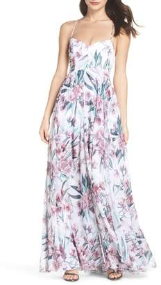 Fame & Partners Khoo Floral Gown