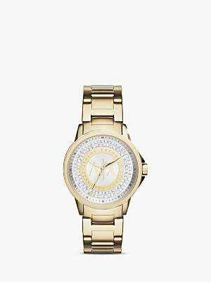 Armani Exchange AX4321 Women's Crystal Bracelet Strap Watch, Gold/Silver