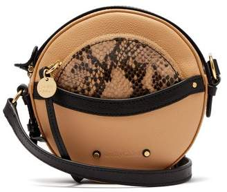 See by Chloe Rosy Circular Mini Leather Cross Body Bag - Womens - Nude Multi