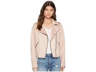 Members Only Suede PU Moto Jacket Women's Coat