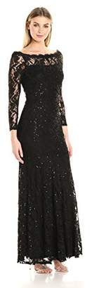 Decode 1.8 Women's Long Sleeve Sequin Lace Gown