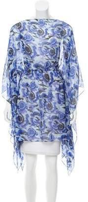Versace Printed Silk Kaftan w/ Tags