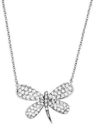 Fratelli Staurino 18k White Gold Nature Dragonfly Pendant Necklace