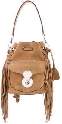 ae65214c9aa3 Ralph Lauren Ricky Fringe Suede Bucket Bag