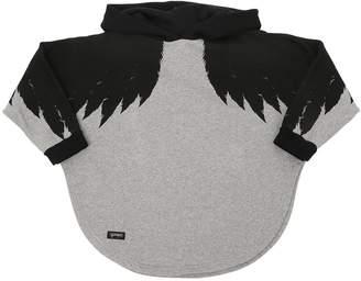 Wings Print Cotton Poncho