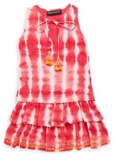 Hemant & Nandita Little Girl's& Girl's Dip Dye Dress