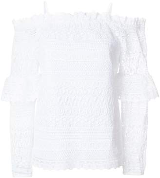Steffen Schraut dropped shoulders crochet blouse