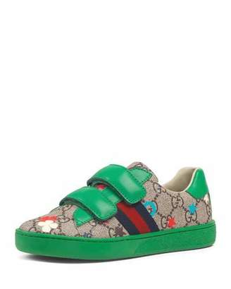 Gucci New Ace GG Supreme Ranch-Print Sneakers, Toddler/Kids