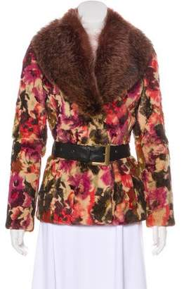 Etro Abstract Print Fur Jacket
