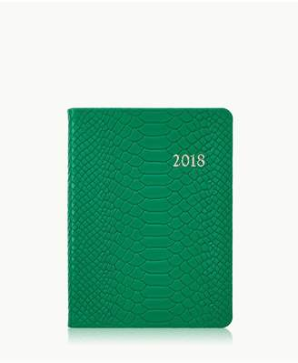 GiGi New York 2018 Notebook In Jade Embossed Python Leather