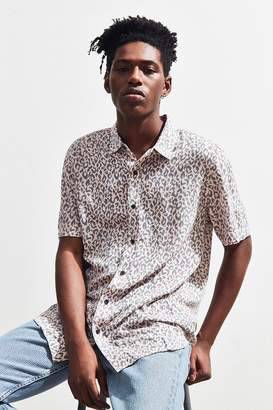 Insight Pink Leopard Short Sleeve Button-Down Shirt
