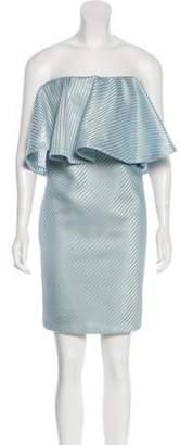 Halston Strapless Mini Dress Aqua Strapless Mini Dress