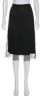 Oscar de la Renta Oscar by Lace Knee-Length Skirt