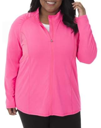 Fruit of the Loom Fit for Me by Women's Plus-Size Active Mesh Jacket