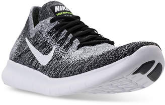 Nike Men's Free Run Flyknit 2017 Running Sneakers from Finish Line $120 thestylecure.com