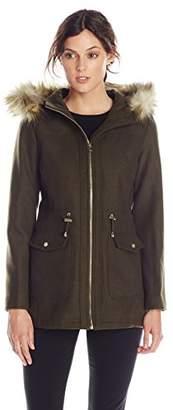 Jessica Simpson Women's Anorak With Faux Fur Trim Hood