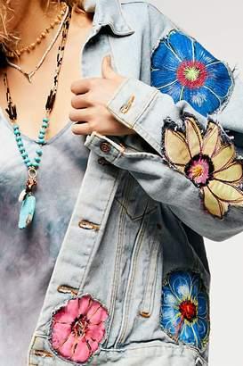 Rialto Jean Project Specialty Floral Denim Jacket