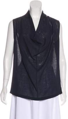 Zero Maria Cornejo Draped Sleeveless Blouse
