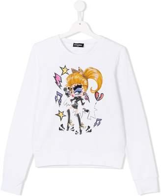 DSQUARED2 printed sweatshirt