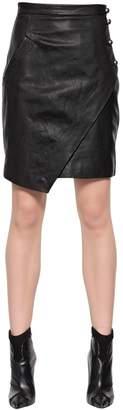 Just Cavalli Envelope Nappa Leather Skirt