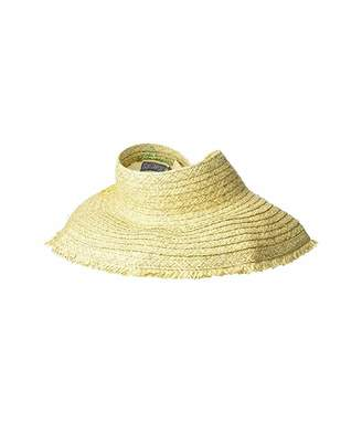San Diego Hat Company PBV016 - Paper Straw Visor with Embroidered Pineapple and Fray Edge