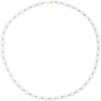 """Swarovski Roxanne Assoulin Pearl"""" Bead And Gold-Tone Necklace"""