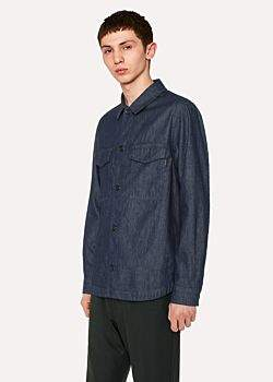 Paul Smith Men's Indigo Denim Shirt Jacket